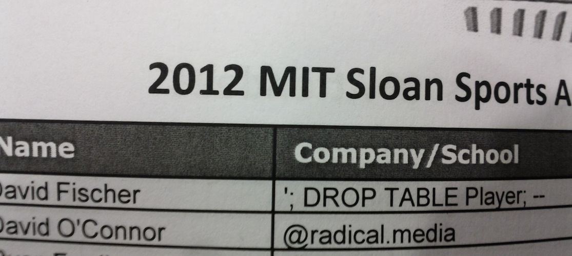 MIT Sloan Sports Analytics Conference Attendees List